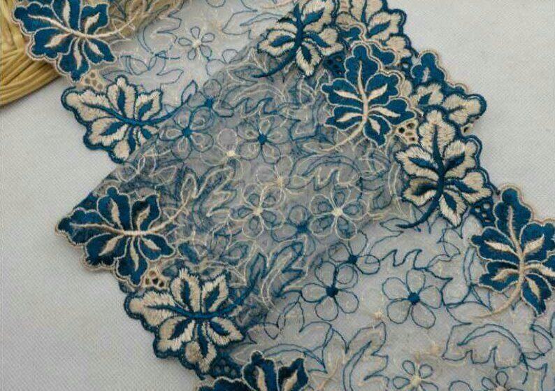 Вышивка ришелье с бисером