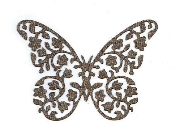 бабочка D-E011 ширина 11,5 см, высота 8,3 см